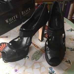 White House Black Market black leather shoes